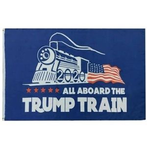 All Aboard the Trump Train Flag 2020 3x5 Outdoor